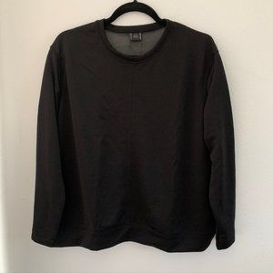Zara Long Sleeve Top Black Medium